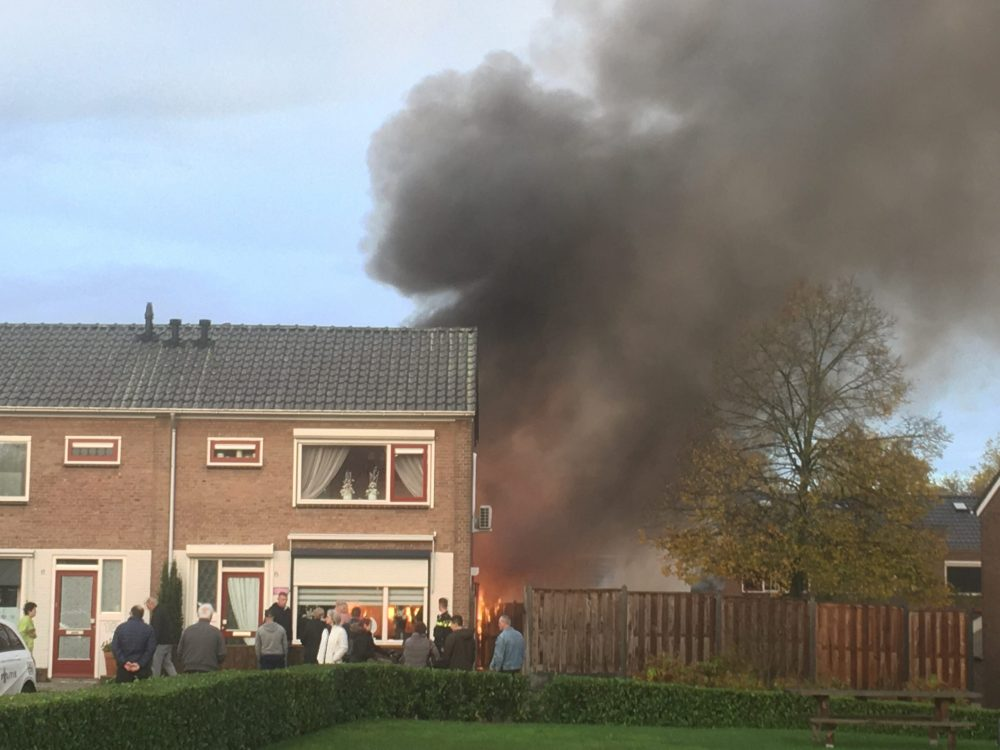 Brand in camper Van Houtenstraat Zutphen - Foto: Manuel Bruna