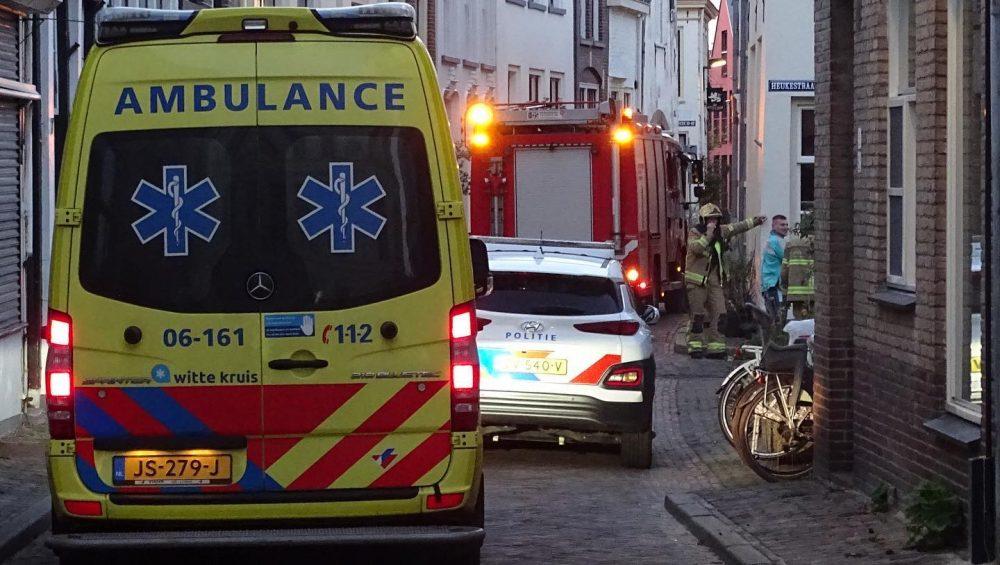 Keukenbrandje op de Heukestraat in Zutphen - Foto: Manuel Bruna