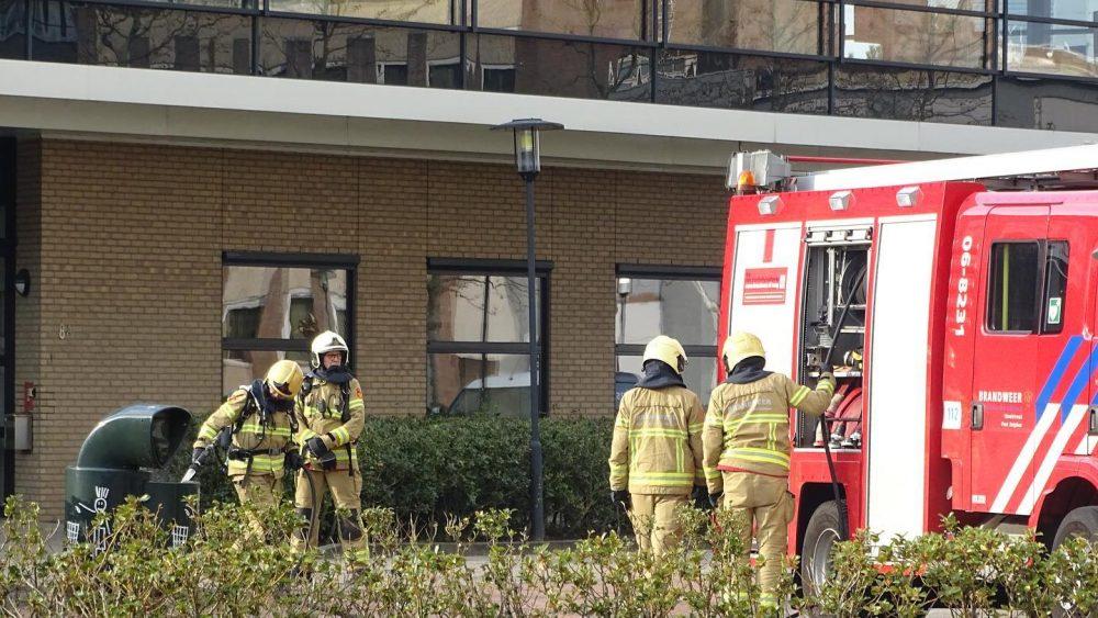 Brandje in een afvalbak bij de McDonalds in Zutphen.